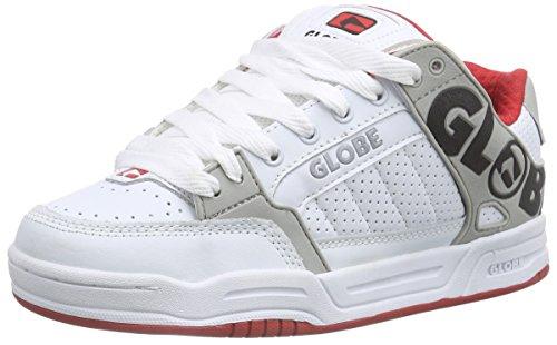 GlobeTilt - Scarpe da Ginnastica Basse Unisex - Adulto , Bianco (Weiß (white/red)), 48