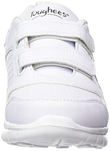 Toughees Shoes Elana Flex Velcro, Scarpe da Corsa Unisex – Bambini, Black Bianco (Bianco (White))