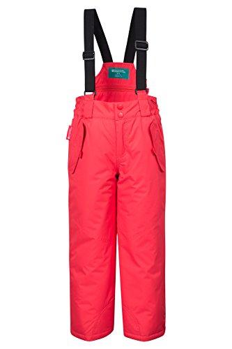 Mountain Warehouse Pantalon de Ski Enfant Garçon Fille Salopette Snowboard Pare-neige bretelles Hiver Honey Corail 2-3 ANS