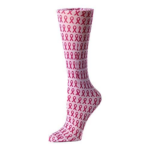 Cutieful Damen Kompressionsstrümpfe Nylon 8-15 Mhg Brustkrebsbewusstsein - Hg Knie-hohe Strümpfe