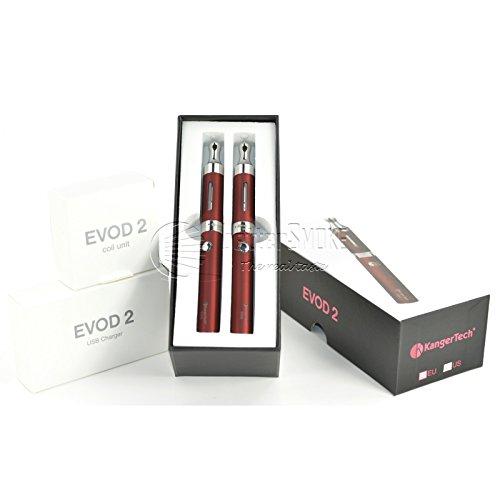 oppel Starterset KangerTech Dual Coil 1,5 Ohm, e-Zigarette (rot) (Kanger Dual Coil)