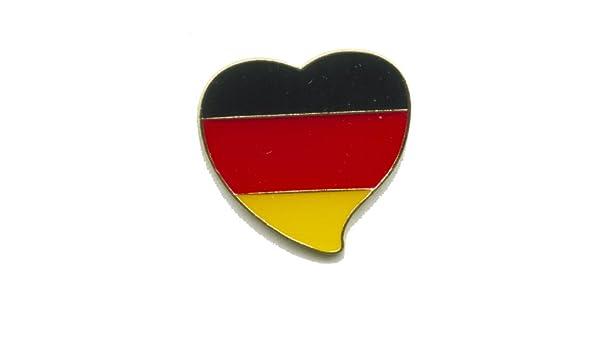 Deutschland Pin Flagge Flaggenpin Anstecker Flaggen Clip Fan-Anstecker Deutschland-Abzeichen Anstecknadel-Deutschland Stadion-Pin 4 St/ück