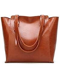 Bloomerang Fashion Women Handbag Pu Oil Wax Leather Women Bag Large  Capacity Tote Bag Big 5982d2c9ad067