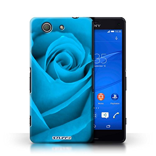 Kobalt® Imprimé Etui / Coque pour Sony Xperia Z3 Compact / Jaune conception / Série Rose Bleu