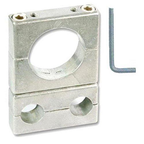 LNB Adapter für Technisat - Spiegel inkl. Werkzeug; zum Nachrüsten bestehender Technisat - Sat-Antennen mit Doppelrohr; Rostfrei; Aluminium mit Edelstahlschrauben