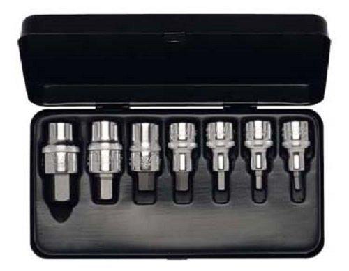 Elora 770-INMTIN Steckschlüssel-Satz 1/2 Zoll, Innen-Sechskant, Titanbeschichtet, 9-teilig 4-19 mm