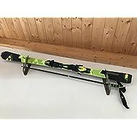 blechprofi's Skihalter, Wandhalterung für Ski und Skistöcke - Skihalterung