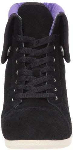 Crocs Lo Pro Suede Hi-Top Sneaker, Baskets mode femme Noir (Black/Ultraviolet)