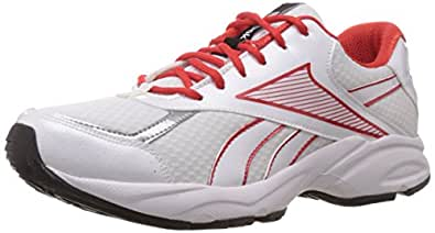 Reebok Men's Dream Runner Lp White,China Red,Silver and Black Mesh Running Shoes - 14 Uk