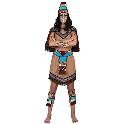 Kostüm Azteken - Kostüm Azteke Dame Ichtaca Größe 44/46 Damenkostüm Mexiko Ethno Nationen Südamerika Inka Völker Kleid Pierro's Kostüm