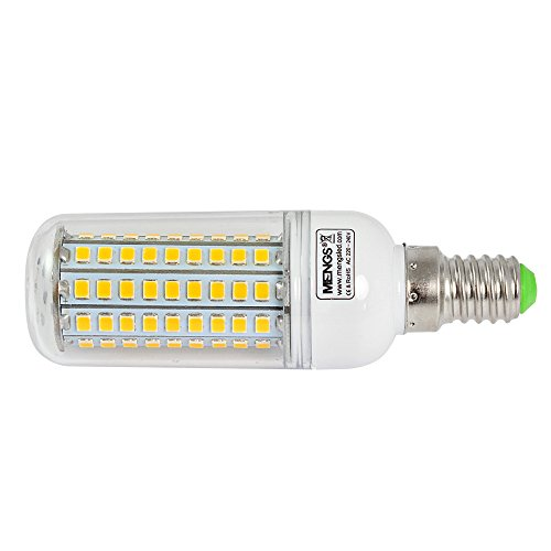 2X MENGS® E14 12W LED lampe Leuchtmittel & Birne Mais Licht 102 x 2835 SMD LEDs Mit PCB-Mantel (750LM, AC 220-240V, Warmweiß 3000K, 360º Abstrahlwinkel, Ø32×96mm) Energiespar licht - 4