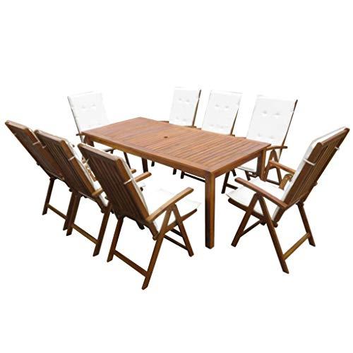 Festnight Garten-Essgruppe 17-TLG. | Holz Sitzgruppe | Gartengarnitur Sitzgarnitur | Gartenset Essgruppe | Terrassenmöbel Gartenmöbel | Gartenmöbelset | Akazie Massivholz