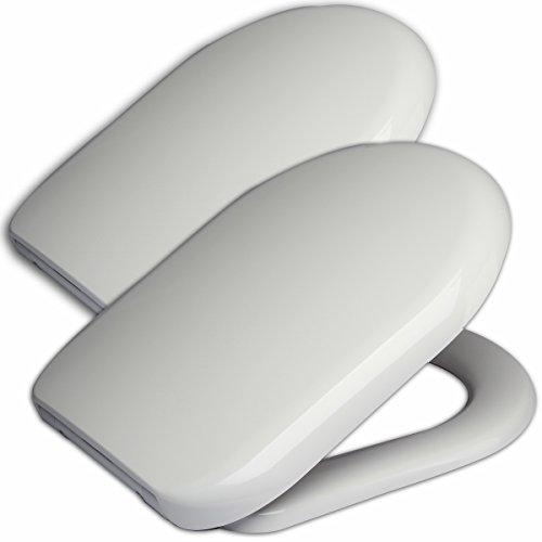 WOLTU WS2443-2 Premium 2x WC Sitz mit Absenkautomatik, Duroplast, Fast Fix, Softclose, Antibakteriell, Neu&Ovp, Weiß