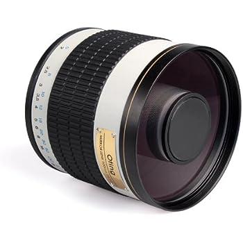 Téléobjectif 500mm F 1:6.3 pour boîtiers reflex Nikon D7200 D7100 D7000 D5200 D5100 D5000 D3200 D3100 D3000 D800 D700 D600 D300 D300S D200 D100 D90 D80 D70 D60 D40 D4 D3 D3X D3S D2 D1