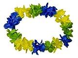 Alsino Hawaiiketten Blumenkette Hula Kette Hawai Halskette 1 m blau gelb grün Hawaii-Deko Party Acessoire 14