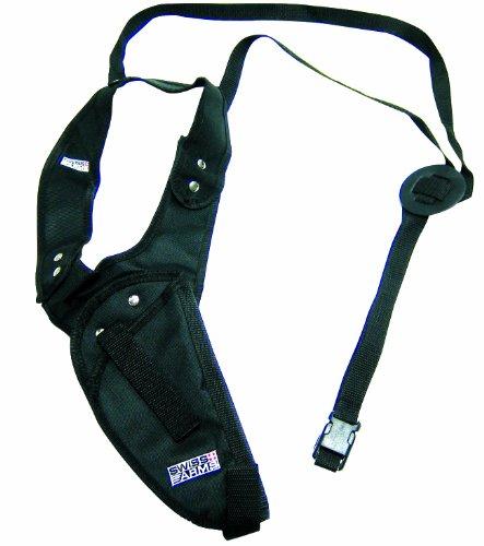 Leder Halfter Kostüm - Swiss Arms Schulterholster vertikal aus Cordura, 201245