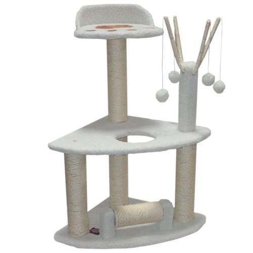 Majestic Pet Products 91,4 cm creme Bungalow Cat Möbel-Apartment House Kratzbaum Multi Level Pet Aktivität Baum