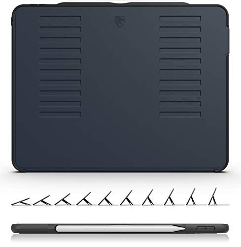 ZUGU CASE The Muse Case - 2018 iPad Pro 12.9 inch - Very Protective But Thin + Convenient Magnetic Stand + Sleep/Wake Cover (Navy Blue 2018 iPad Pro 12.9 Gen 3) Thin Stand
