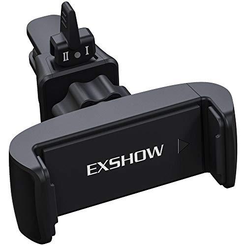 EXSHOW Handy Auto Halterung, KFZ Lüftung Handyhalterung : Autohalterung 360° Drehung für iPhone Xs XR 8 7 Plus 6 6S, Samsung, andere Smartphone Swivel Vent Mount Kit