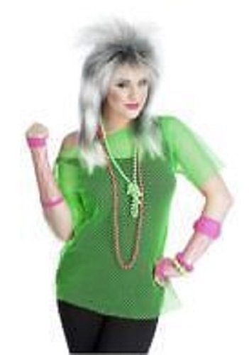 Neon Mesh T-Shirt Top For Fancy Dress Rave Disco Clubbing - Adult One Size - Available In 5 Colours (Neon (Rave Fancy Dress Kostüm)