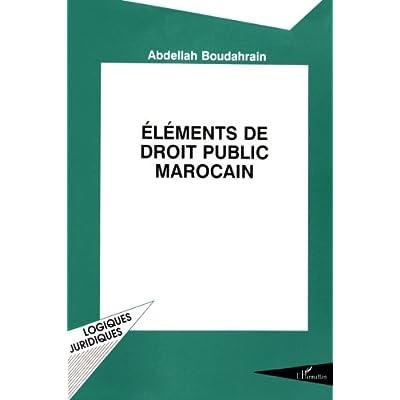 Eléments de droit public marocain