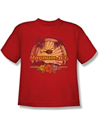 Nbc - Hawaiian Sunset Youth T-Shirt In Red
