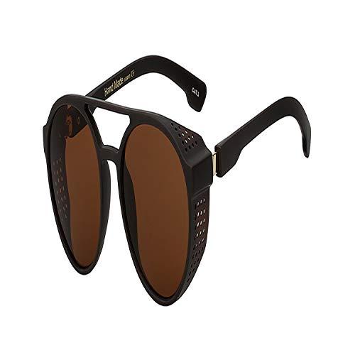 Sport-Sonnenbrillen, Vintage Sonnenbrillen, NEW Steampunk Vintage Mens Sunglasses Fashion Luxury Brand Designer Men Women Sun Glasses Pilot Shades Eyewear UV400 Brown w brown