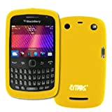 EMPIRE Jaune Silicone Skin Case Étui Coque Cover Couverture for BlackBerry Curve 9360