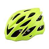 6 x colori - Scott di casco con luce di sicurezza, adulti uomini e donne sport casco per bici da strada e mountain bike, casco leggero con visiera rimovibile e regolabile antiscivolo Thrasher, Green