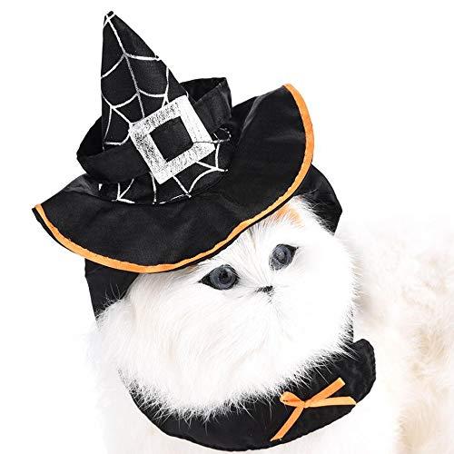 DUANQY Lustige Katze kostüm Zauberer kostüm Katze Kleidung Halloween kostüm Hund Kleidung kostüm Kleid Cosplay Party Kleidung für Katze