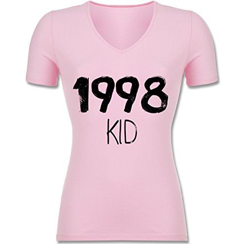 Geburtstag - 1998 KID - Tailliertes T-Shirt mit V-Ausschnitt für Frauen Rosa