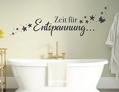 tjapalo® s-pkm 412 Wandtattoo Badzimmer Schlafzimmer Wandspruch Sprüche Zeit zur Entspannung pkm412 – in vielen Farben
