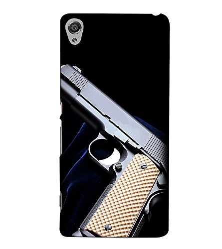 Fuson Designer Back Case Cover for Sony Xperia X :: Sony Xperia X Dual F5122 (The Gun theme)  available at amazon for Rs.397