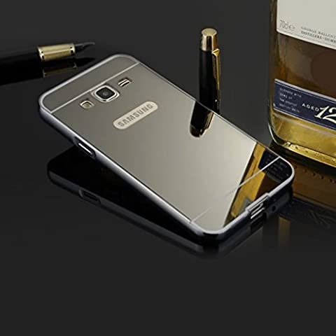 BtDuck Plated Mirror Case For Samsung Galaxy J3 2016 / J3 Pro Black Suitable For Individuality Female College Students Reflector Outdoors For Help Self-timer Effect Metal Frame Phone Accessories Protector Cover Anti-slip Anti-scratch Skin Outdoor Protection Simple Strict Shockproof Slim-fit Lightweight Shell Hybrid Bumper with Inner shell Hard PC Plastic Back Cover + 1 * Black Stylus Pen