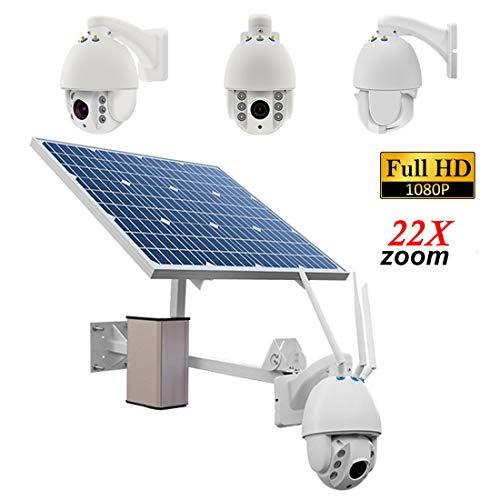 22X Zoom Outdoor Solar Power Überwachungskamera mit Akku 1080P H.264 8mm Objektiv Wasserdicht Wireless Night Vision Motion Detection P2P Überwachung (Motion-detection-überwachungskamera)