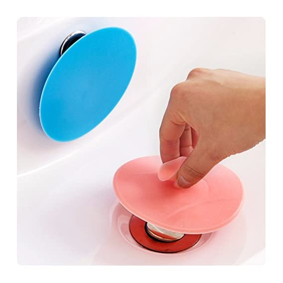 Generic 1pcs Drain Plug circle silicon bathroom leakage-proof stopper sink water plug rubber PVC Basin Laundry Sink Bathtub stopper