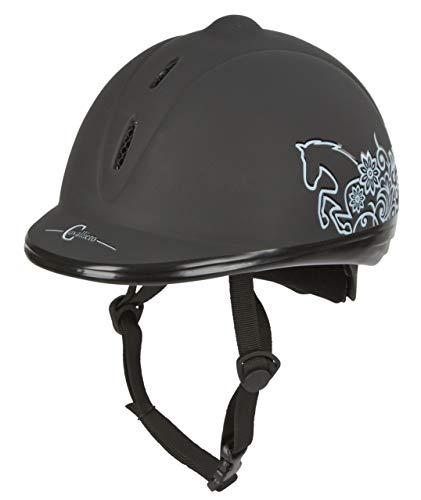 Covalliero Beauty VG1 Casque d'équitation Noir Noir 52-55 cm