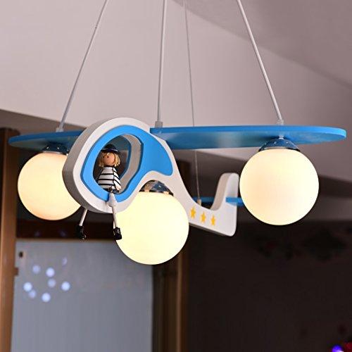 Guo Kinderzimmer-Lichter-Jungen-Schlafzimmer-Flugzeug-Lichter-Kronleuchter-Pers5onlichkeit-kreative Karikatur-Beleuchtung-Legierungs-Lampen-E27 Lampen-Hafen