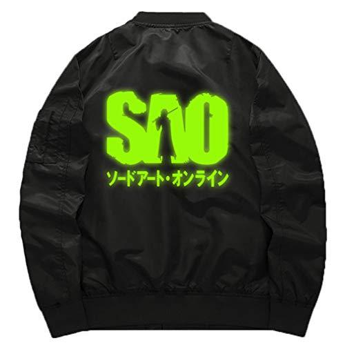 03c68edfe9b Cosstars Sword Art Online Sao Anime Chaqueta Bomber Jacket para Hombre y  Mujer Cosplay Disfraz Luminoso