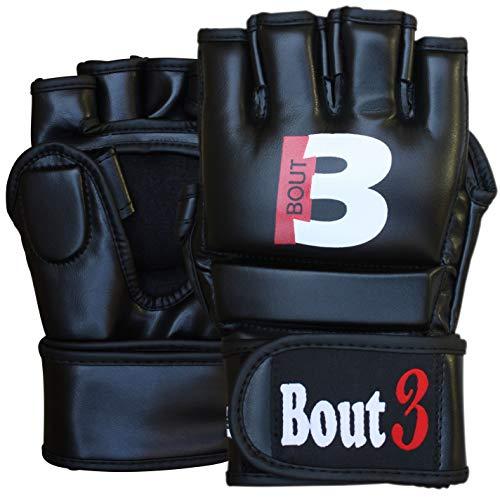 Bout3® Guanti MMA - Guantoni Grappling Sparring Cage, UFC, Mauy Thai, Arti Marziali, Taekwondo e Kick Boxing - per Uomini e Donne