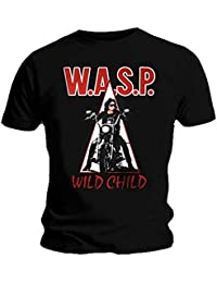 Official T Shirt WASP W.A.S.P Heavy Metal WILD CHILD Motorbike Logo All Sizes