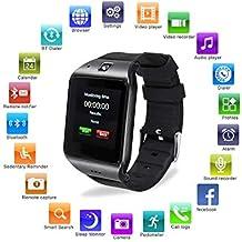 Reloj Inteligente, [Regalo de Navidad] HAMSWAN Smartwatch Bluetooth para Andriod/IOS con