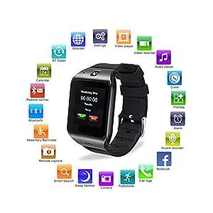 HAMSWAN LG118 Bluetooth Smartwatch mit Kamera Alles in 1 Uhr für iPhone, Android Samsung Galaxy Note, Nexus, HTC, Sony