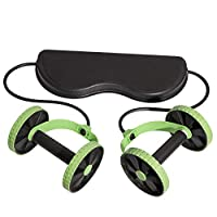 Bluerise AB Wheel Roller Fitness Abdominal Machine Exercise Gym Equipment Core Workout Multi-Function ABS Fitness Equipment for Home Trainer Green