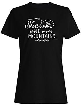 Ella Moverá Montañas camiseta de las mujeres n897f