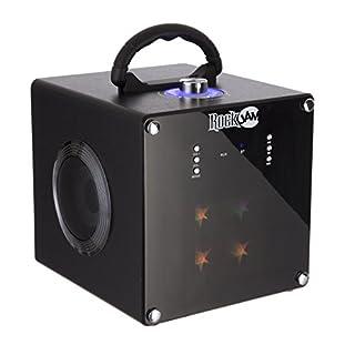 RockJam RJBT1106 Portable Bluetooth Party Speaker with Powerful LED Disco Light - Black