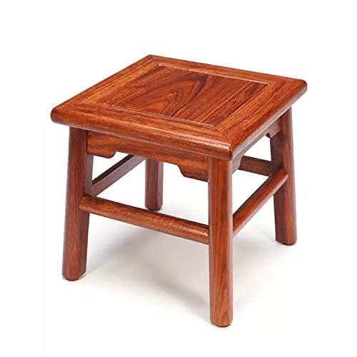 HJCA Hocker Quadrat Hocker Mahagoni Couchtisch Niedriger Hocker Ändern Schuhhocker Einfache Chinesische Massivholz Kinder Kleine Bank-28 * 28 * 30 CM Multifunktionaler bequemer Stuhl für mehrfache Occ -