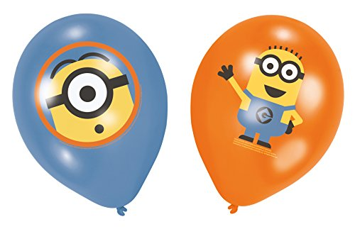 6 globos de látex de Los Minions