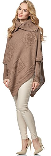 Merry Style Poncho per Donna MSSE0021 Cacao