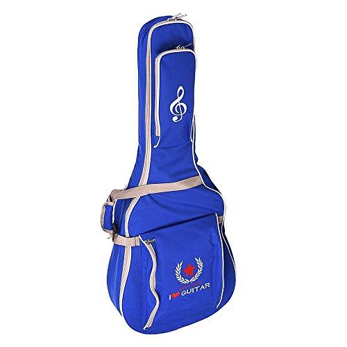 """Ammoon 41 """"guitarra acústica bolsa caso Mochila Correa de Hombro Ajustable Acolchada con algodón), color negro, azul oscuro"""